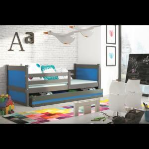ArtBms Detská posteľ Rico 1 grafit / modrá