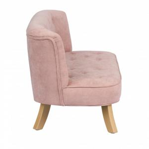 ArtBun Detská pohovka Velvet Dusty Pink
