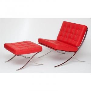 ArtD Kreslo BA1 Premium inšpirované Barcelona červená
