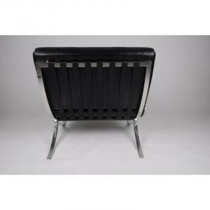 ArtD Kreslo BA1 Premium inšpirované Barcelona čierna