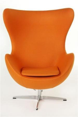 ArtD Kreslo JAJO inšpirované EGG kašmír Farba: Oranžová