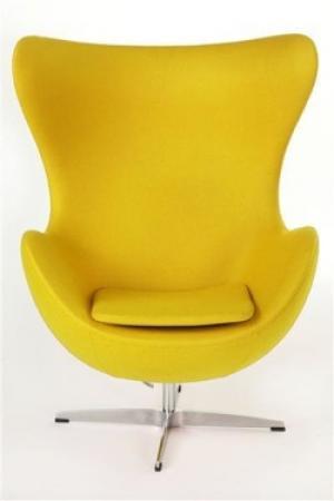 ArtD Kreslo JAJO inšpirované EGG kašmír Farba: Žltá