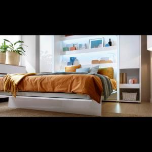 ArtDig Sklápacia posteľ Bet Notion BC-05 120x200 biela lesk