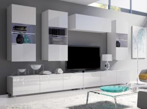 ArtElb Obývacia stena CALABRINI XI Farba: Biela / biely lesk