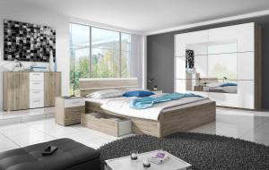 ArtElb Spálňa DELTA | san remo Beta: Spálňova zostava Beta / posteľ 180 x 200