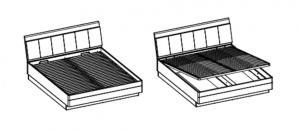 ArtExt Manželská posteľ MONACO TYP MOAL01 140x200 Prevedenie: Manželská posteľ ľTYP MOAL01 140x200 cm
