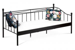 Artium posteľ jednolôžková 90x200, kov čierny matný BED-1905 BK