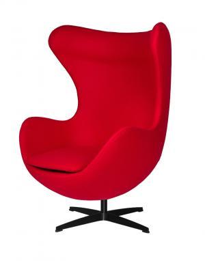 ArtKing Kreslo EGG CLASSIC BLACK červená 17 vlna
