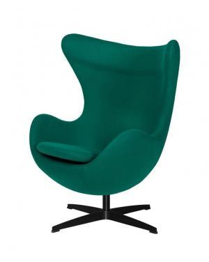 ArtKing Kreslo EGG CLASSIC BLACK zelená 41 vlna