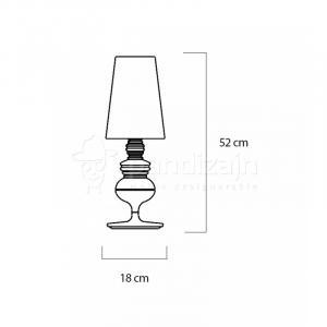 ArtKing Stolová lampa Queen chróm