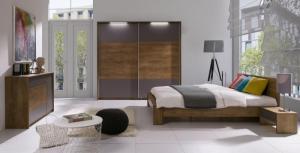 ArtMadex Manželská posteľ Latika Farba: Dub burgundsky / biela