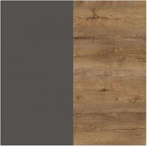 ArtMadex Manželská posteľ Latika Farba: Dub burgundsky / sivá