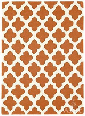 ASIATIC LONDON Artisan Terracota, krémová/oranžová