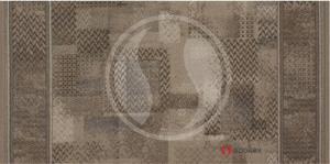 Associated Weavers koberce Protiskluzový běhoun na míru Tribe 37 Khaki - šíře 100 cm s obšitím