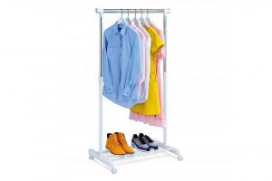 AUTRONIC ABD-1210 WT stojan na šaty, chróm, plast biely