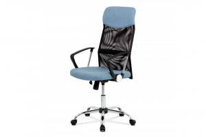 AUTRONIC KA-E301 BLUE kancelárske kreslo, látka čierna/modrá