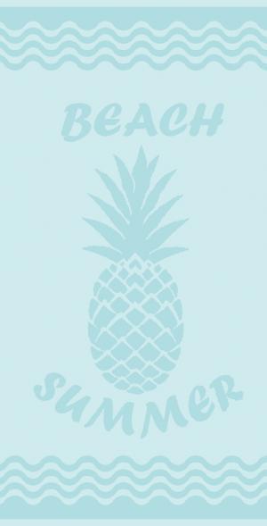 B.E.S. - Petrovice, s.r.o. Plážová osuška velur 80 x 160 - Ananas