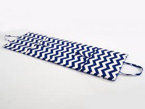 B.E.S. - Petrovice, s.r.o. Plážové lehátko - modrobílé cik cak