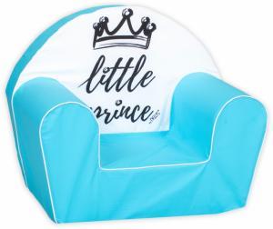 BABY NELLYS - Delsit Detské kresielko, pohovka LUX Little Prince, modré