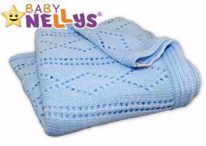 BABY NELLYS - Háčkovaná dečka  - modrá