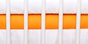 BABY NELLYS - Jersey plachta oranžová  120x60