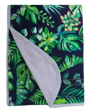 BABYMATEX Deka bambusová bavlnená obojstranná Džungla 75x100 cm