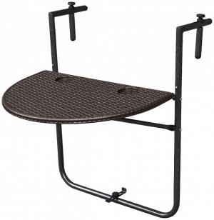 Balkónový stolík na zábradlie