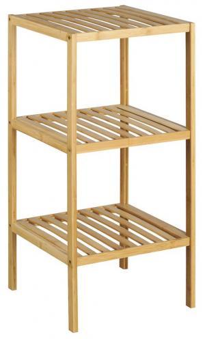 Bambus BI003 policový regál 37x37x80 cm, 3 police