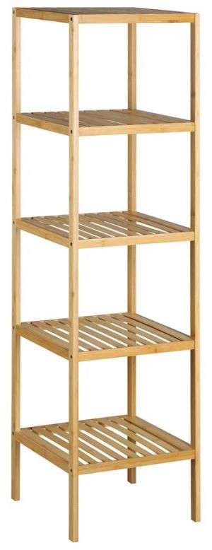 Bambus BI005 policový regál 37x37x140 cm, 5 políc