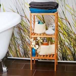 Bambusový kúpeľňový regál s 3 policami RD3496