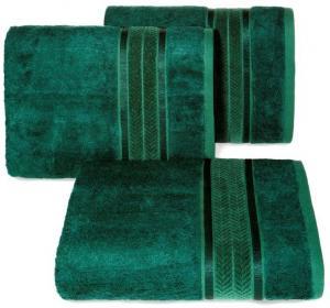 Bambusový zelený uterák MIRO so zdobeným okrajom 70x140 cm