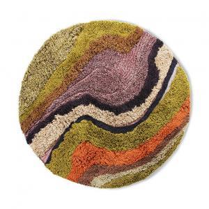 Barevne guľatý všívaný koberec Tufted - Ø 150cm