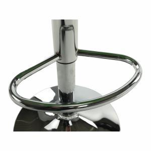 Barová stolička, ekokoža biela/chróm, LARIA NEW