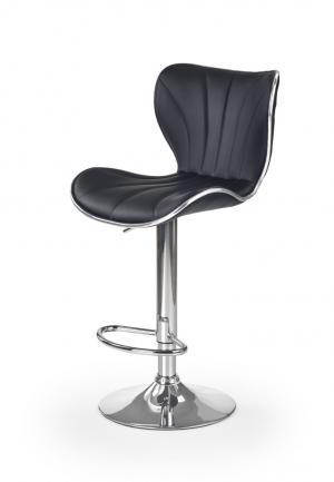 Barová stolička H-69 čierna / chróm Halmar