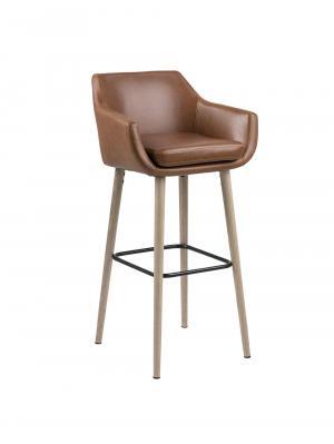 Barová stolička Marte (Súprava 2 ks), koňaková