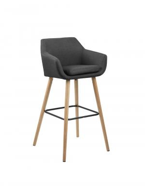 Barová stolička Marte (Súprava 2 ks), tmavosivá