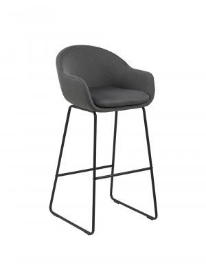 Barová stolička Melina (Súprava 2 ks), tmavosivá