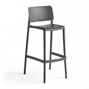Barová stolička Rio, tmavošedá