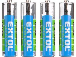 Batéria zink-chloridová typ: 4ks, 1,5V, typ AA / LR6