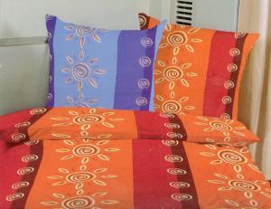 Bavlnené obliečky na jednolôžko - Slniečka oranžová