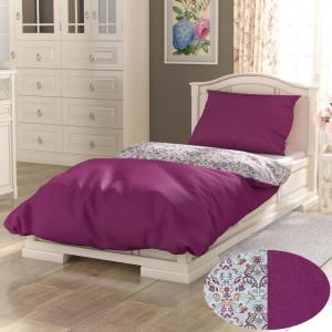 Bavlnené obliečky PROVENCE COLLECTION 140x200, 70x90 cm NARISTA purpurová