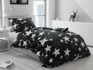 Bavlnené obliečky Star čierna