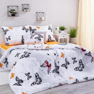 Bavlnené posteľné obliečky BUTTERFLY predĺžená dĺžka