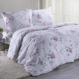 Bavlnené posteľné obliečky MIA ružová predĺžená dĺžka