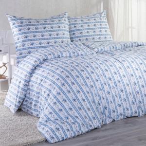 Bavlnené posteľné obliečky ROZÁLIE modrá štandardná dĺžka