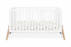 Bellamy Detská postieľka / posteľ Lotta so zásuvkou (3v1) Farba: Biela