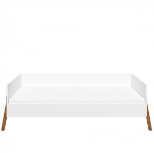 BELLAMY Lotta detská posteľ, matná biela/drevo