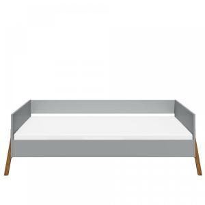 BELLAMY Lotta detská posteľ, matná šedá/drevo