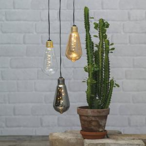 STAR TRADING Vintage dekoračná LED lampa Glow s časovačom, dym