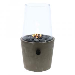 Betónová plynová lampa Cosi Cement, výška 38 cm